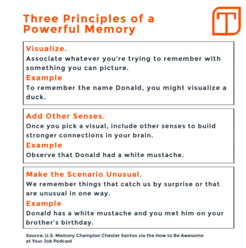 Three principles of memory